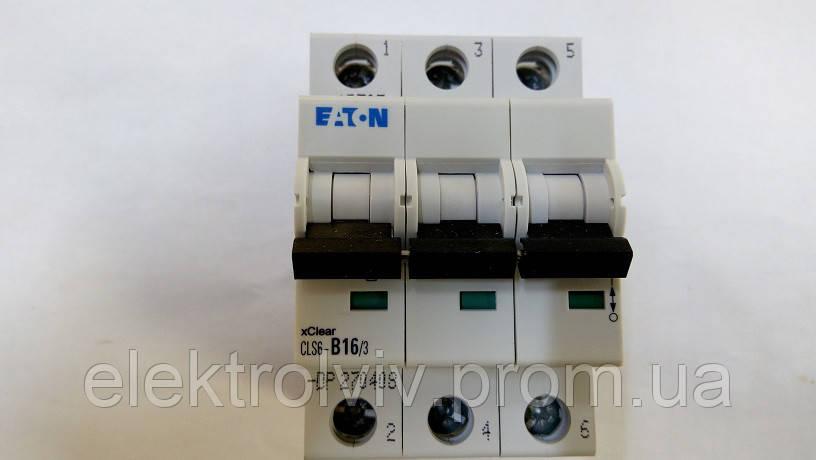 Автоматический выключатель Eaton CLS6-B16/3-DP