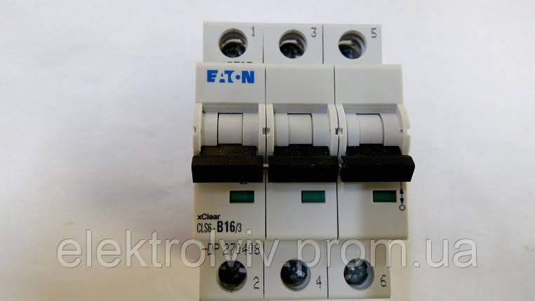 Автоматический выключатель Eaton CLS6-B16/3-DP, фото 2