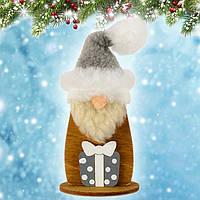 """Новогодняя декорация """"Дед Мороз маленький"""" (дерево) уп.1, фото 1"""