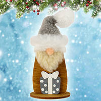 """Новогодняя декорация """"Дед Мороз маленький"""" (дерево) уп.1"""
