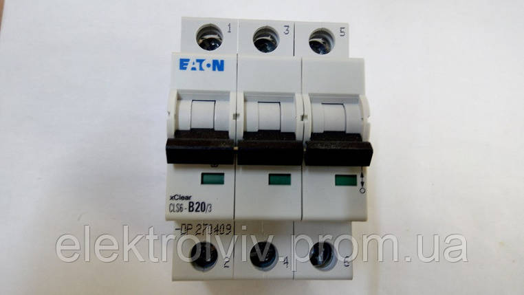 Автоматический выключатель Eaton CLS6-B20/3-DP, фото 2