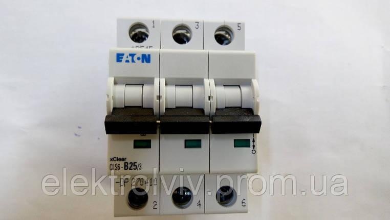 Автоматический выключатель Eaton CLS6-B25/3-DP, фото 2