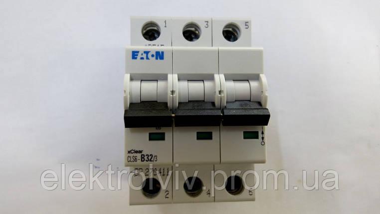 Автоматический выключатель Eaton CLS6-B32/3-DP, фото 2