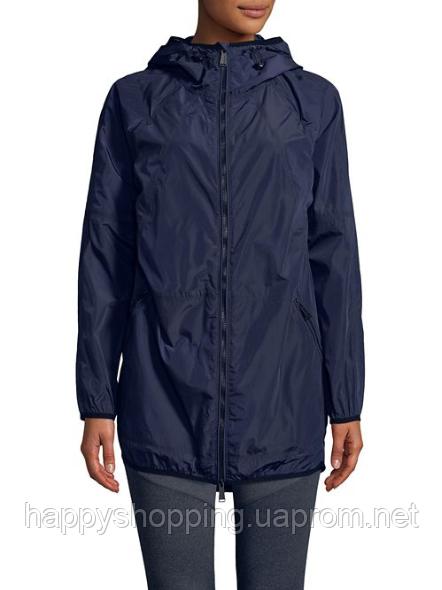 Женская темно-синяя водоотталкивающая ветровка  с рюкзаком Calvin Klein