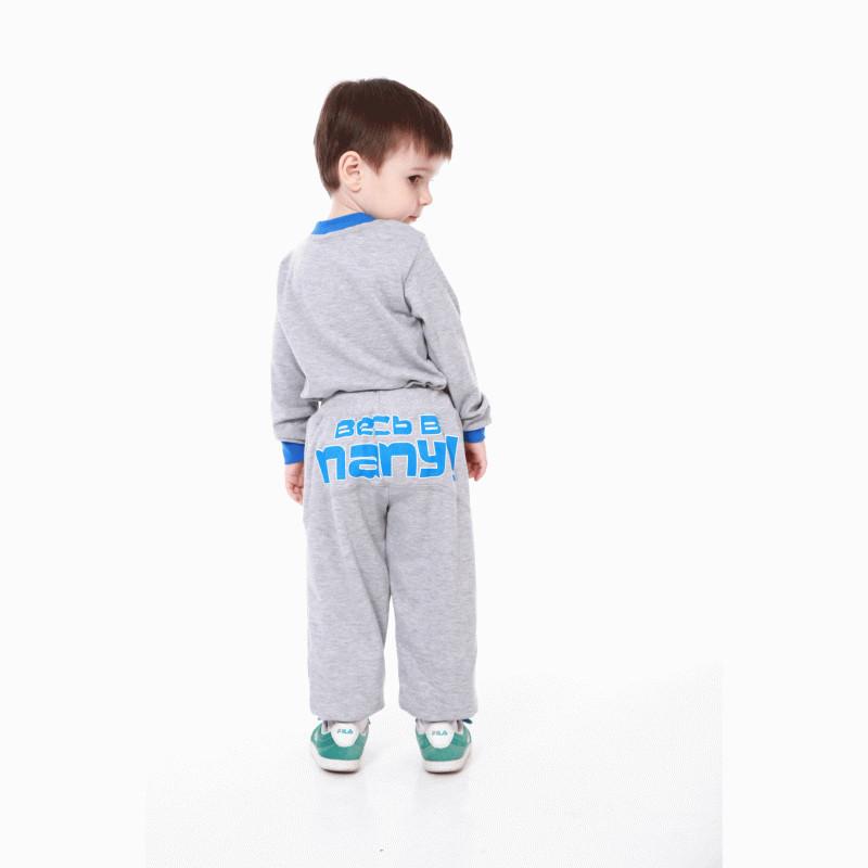 Штаны серые тёплые с надписью для детей
