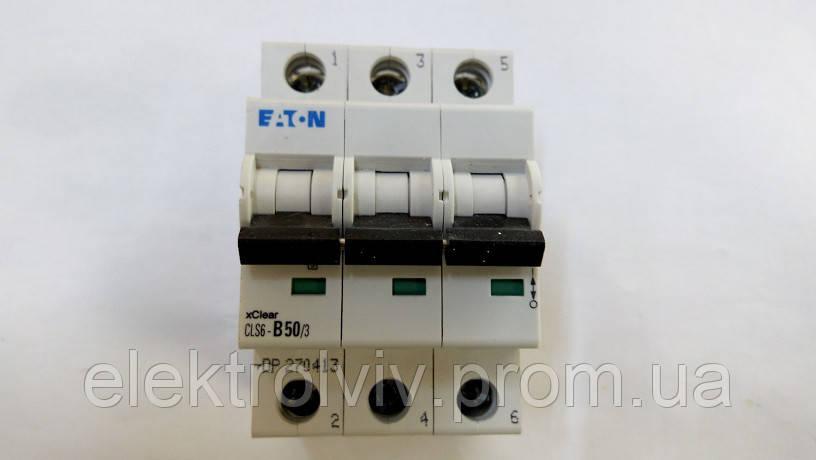 Автоматический выключатель Eaton CLS6-B50/3-DP
