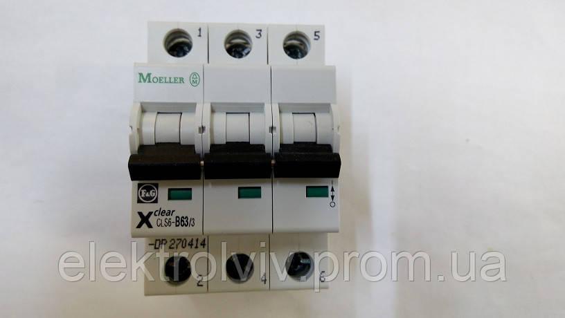 Автоматический выключатель Eaton CLS6-B63/3-DP