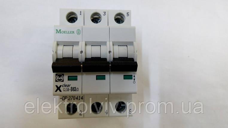 Автоматический выключатель Eaton CLS6-B63/3-DP, фото 2