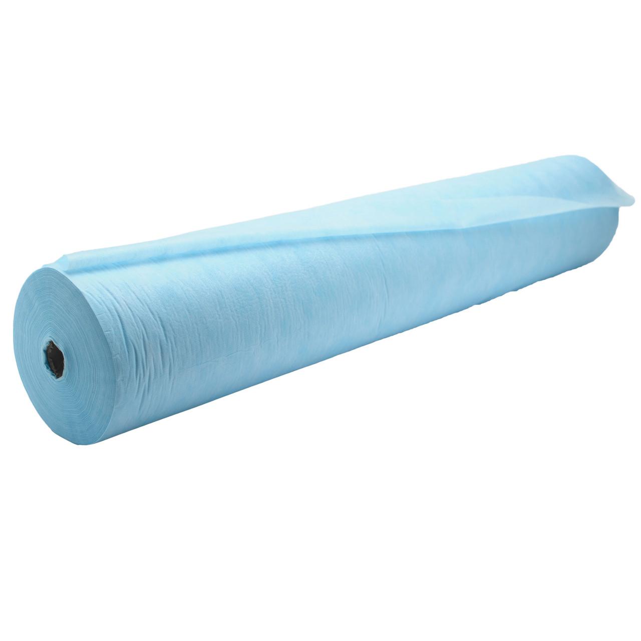 Простынь одноразовая голубая 17-19 г/м2 ширина 800мм