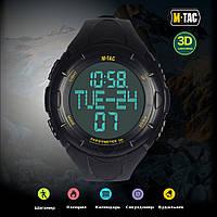 Годинник з крокоміром M-Tac Black