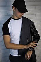 Мужская серая толстовка (с капюшоном ) , фото 2