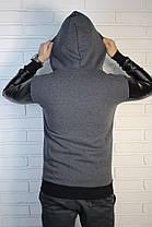 Мужская серая толстовка (с капюшоном ) , фото 3