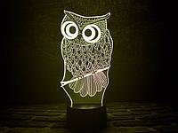 """3d светильник """"Сова"""" 3DTOYSLAMP"""