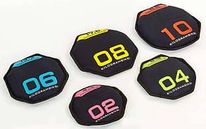 Набір дисків м'яких SAND BELLS 2-10 кг (d-30 см, крок 2 кг, метал. Кульки)