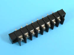 ETB5402108 Клеммник 8 контактов на плату с креплением, 300В 10A шаг 7,62мм