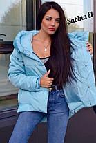 Куртка еврозима дутая с капюшоном сзади длиннее, фото 2