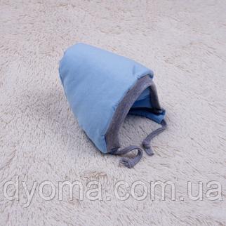 Теплая шапочка для младенца Mini (голубая), фото 2
