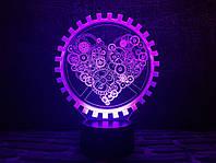 """Сменная пластина для 3D ламп """"Механическое сердце"""" 3DTOYSLAMP"""