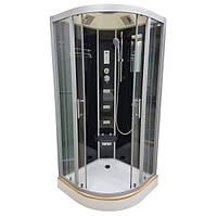 Душевой бокс VERONIS BN-5-90 Black прозрачные стекла 90х90х220 (ИТАЛИЯ)