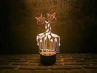 """Сменная пластина для 3D ламп """"Влюбленные жирафики"""" 3DTOYSLAMP"""