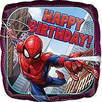 Фольгированный шар с рисунком Anagram Happy Birthday Спайдермен