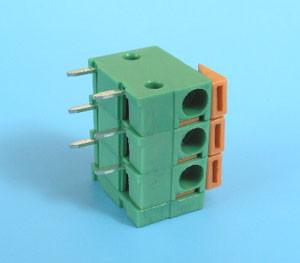 ETB65030G200 Клеммник 3 контакта на плату, зажимной, горизонтальный, 250В 17.5А шаг 5,08мм