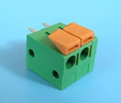 ETB66020G200 Клеммник 2 контакта на плату, зажимной, вертикальный, 250В 17.5А шаг 5,08мм