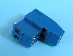 ETB1804 Клеммник 4 контакта на плату, 2 уровня, 300В 10А шаг 5,0мм