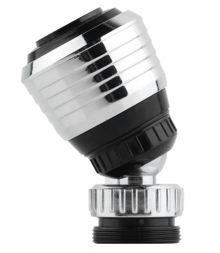 Поворотна насадка на кран, аератор води, дифузор Water Saver Black (4645)
