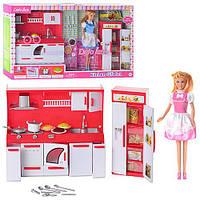 Кухня Defa 8085 с куклой, мебли, посудка, холодильник