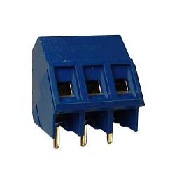 ETB1503 Клеммник 3 контакта на плату, угловой 60 градусов, 300В 10А шаг 5,0мм