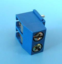 ETB1202 Клеммник 2 контакта на плату, прямой угол, 300В 8А шаг 5,0мм
