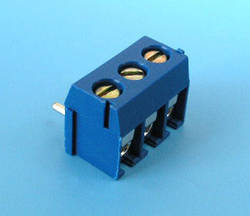 ETB0903 Клемник 3 контакту на плату, прямий кут, 300В 10А крок 3,5 мм