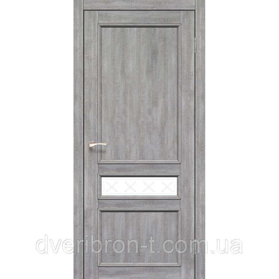 Двери Корфад Classico CL-07 со штапиком в цвете дуб табакко, дуб нордик.