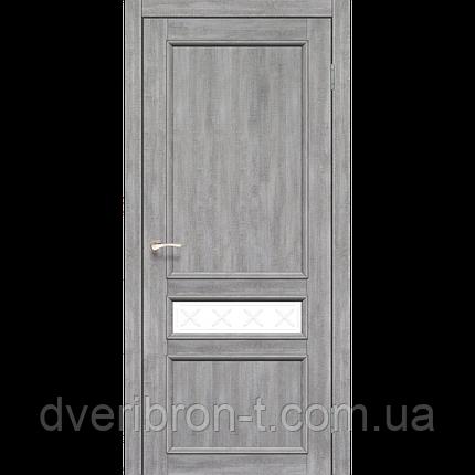 Двери Корфад Classico CL-07 со штапиком в цвете дуб табакко, дуб нордик., фото 2