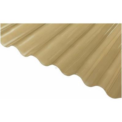 Шифер ПВХ - Волна БРОНЗОВЫЙ (Salux W 76/18 мм, 1.8*0.9 м)