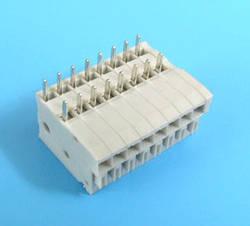 ETB63080H200 Клеммник 8 контактов на плату, зажимной, гориз., 50В 3А шаг 2.54х5.08 мм