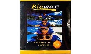 Линзы для очков полимерные  фотохромная линза Biomax. Индекс 1,56. (серый)