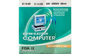 Линзы для очков полимерные  Sistem Electron Computer с покрытием. Индекс 1,56