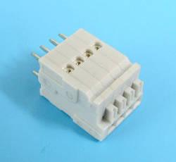 ETB64040H200G Клемник 4 контакту на плату, затискний, вертикальний, 50В 3А крок 2.54х5.08 мм