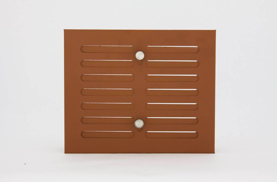 Решетка вентиляционная 15х17 коричневая с регулировкой