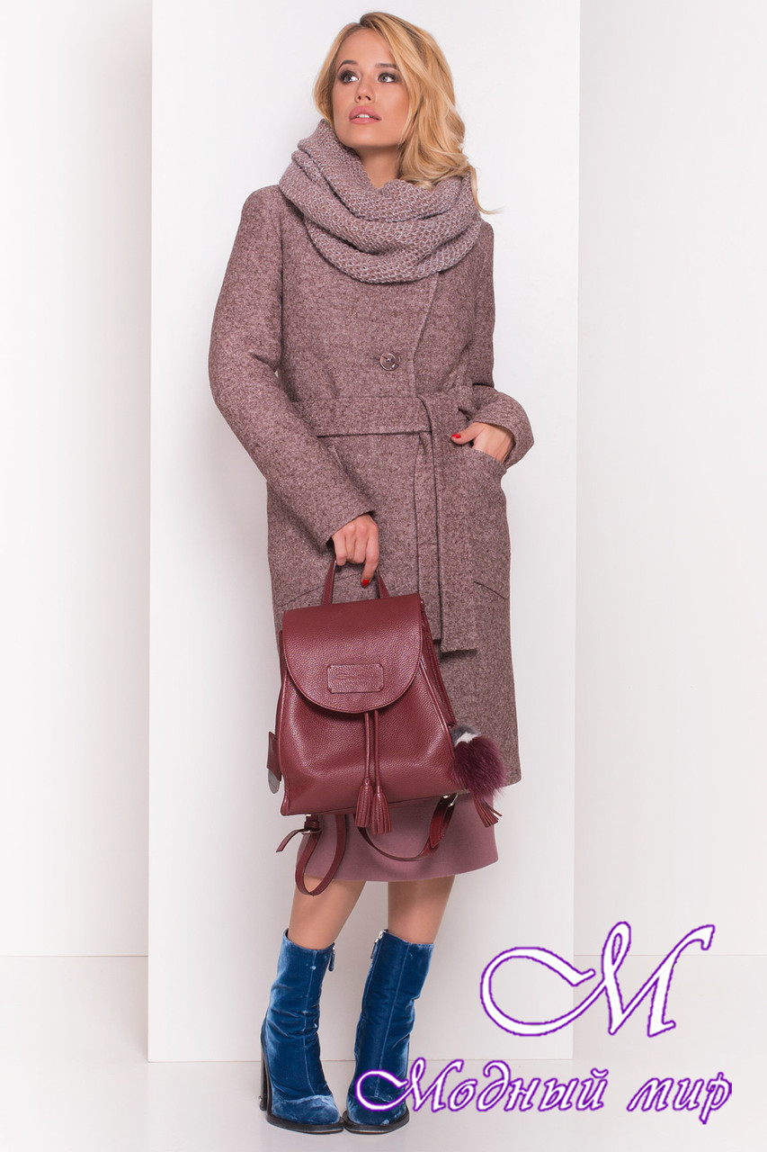 Женское теплое зимнее шерстяное пальто (р. S, М, L) арт. Габриэлла 4224 - 20833