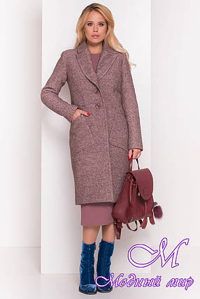 Женское теплое зимнее шерстяное пальто (р. S, М, L) арт. Габриэлла 4224 - 20833, фото 2