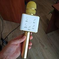 Микрофон караоке беспроводной Q7 портативный, блютуз+колонка, фото 1