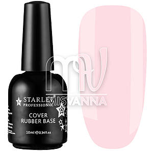 База каучуковая Cover Rubber Base Starlet Professional №001, 10 мл нежно-розовый