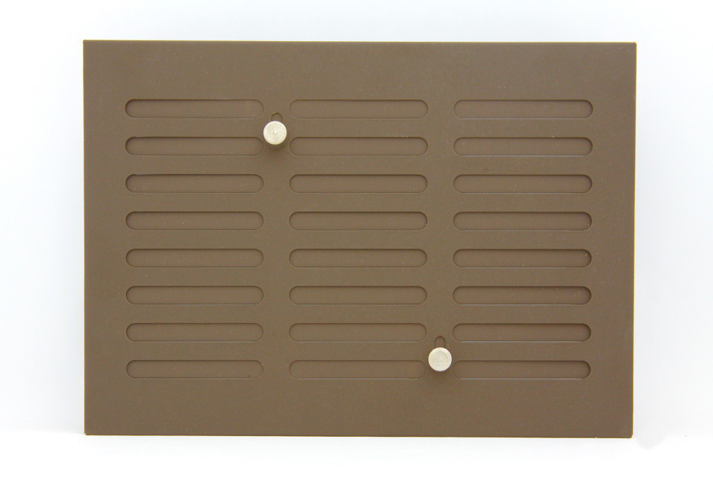 Решітка вентиляційна 17х24 темно коричнева з регулюванням