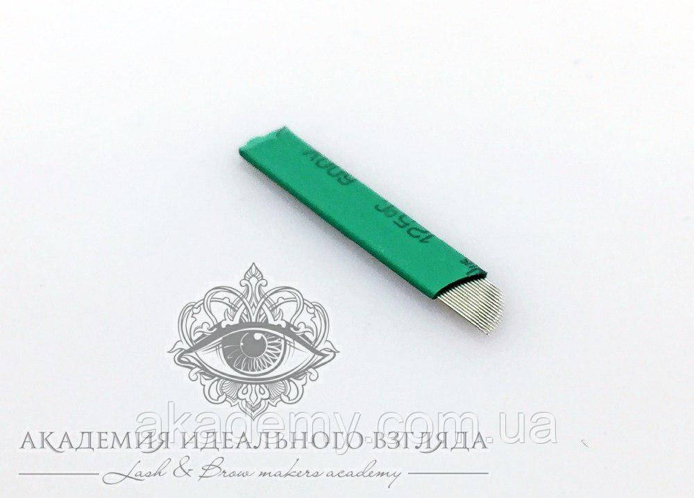 Игла для микроблейдинга S16 0.2 мм (зеленая)