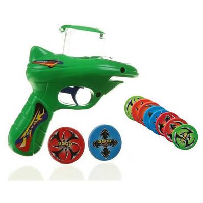 Пістолети на пистонах, що стріляють гумками, дисками, присосками, водяними кульками...