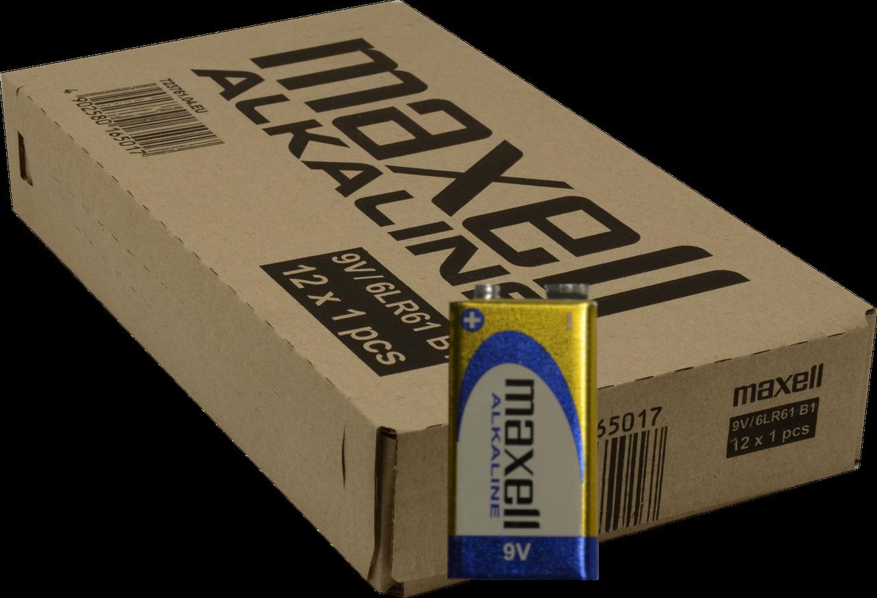 Батарейка Maxell КРОНА 6LR61 1PK BLISTER,12 шт.(42,66 грн за штуку)
