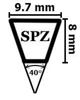 Профіль SPZ узкоклиновые ремені